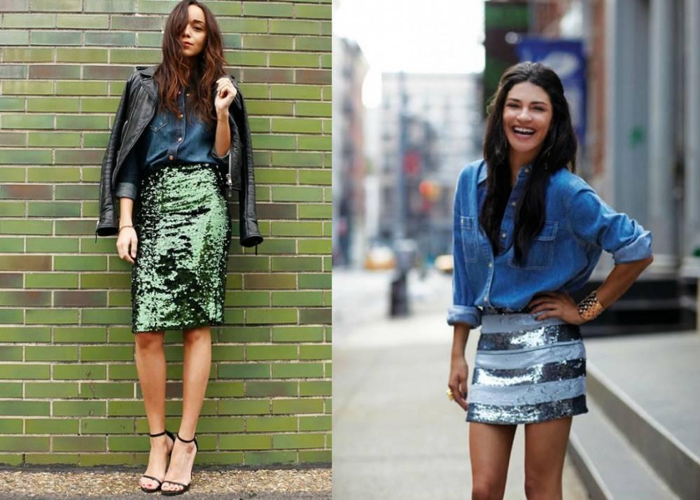 Образы с цветными юбками