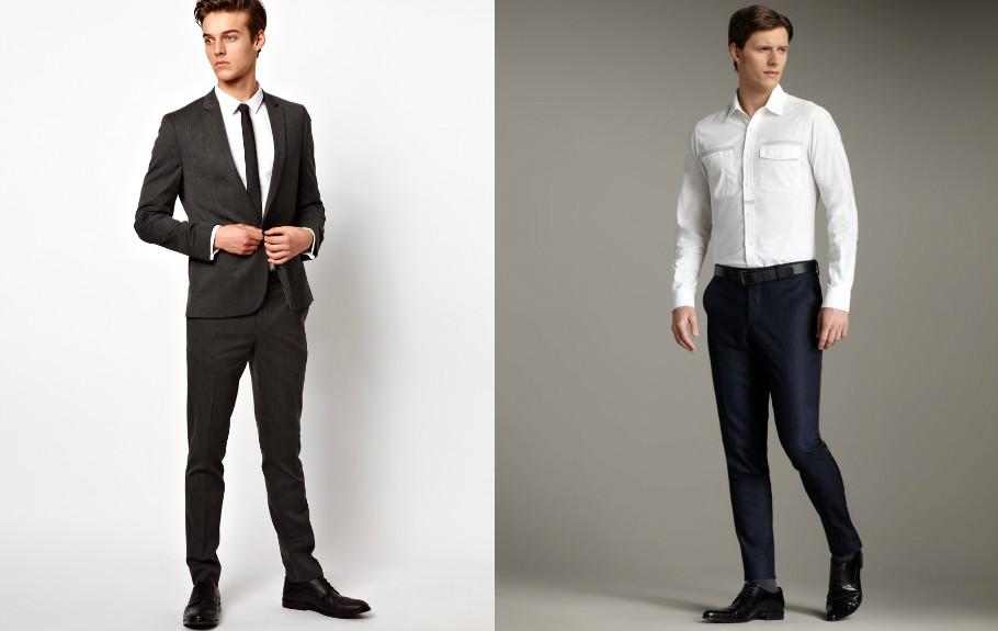 Мужские брюки зауженные классические