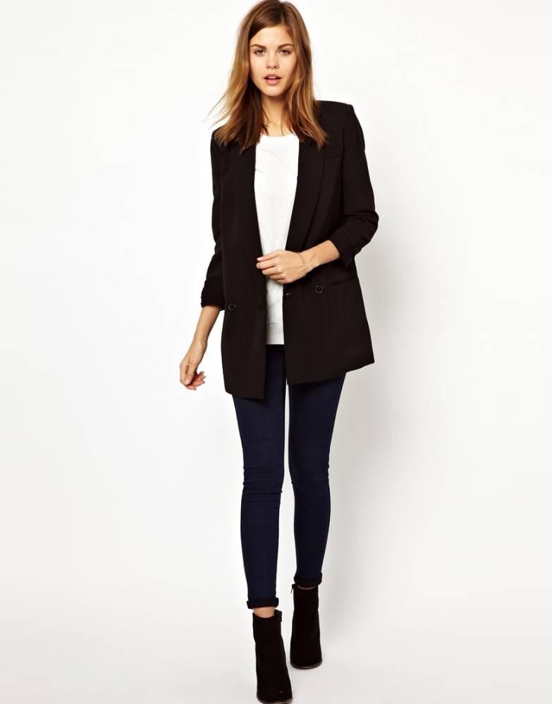С чем носит длинные черные пиджаки