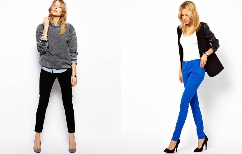 С чем носить кожаные штаны женские 191