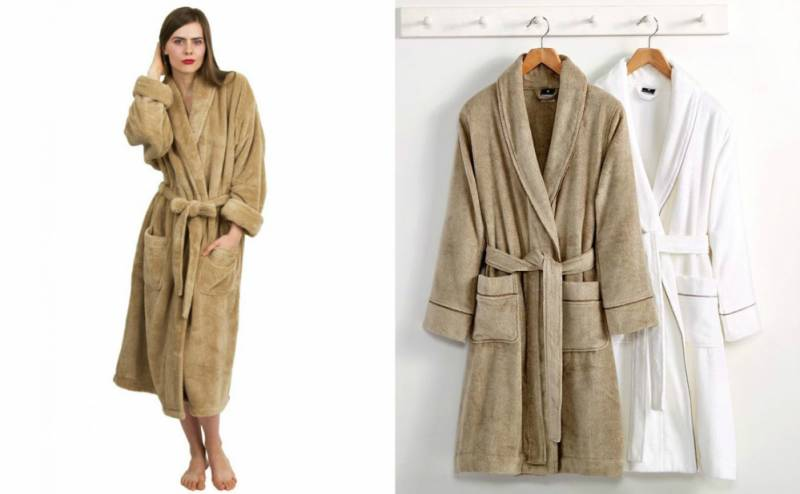 Плюшевый халат: удобно, красиво, тепло, Мода от