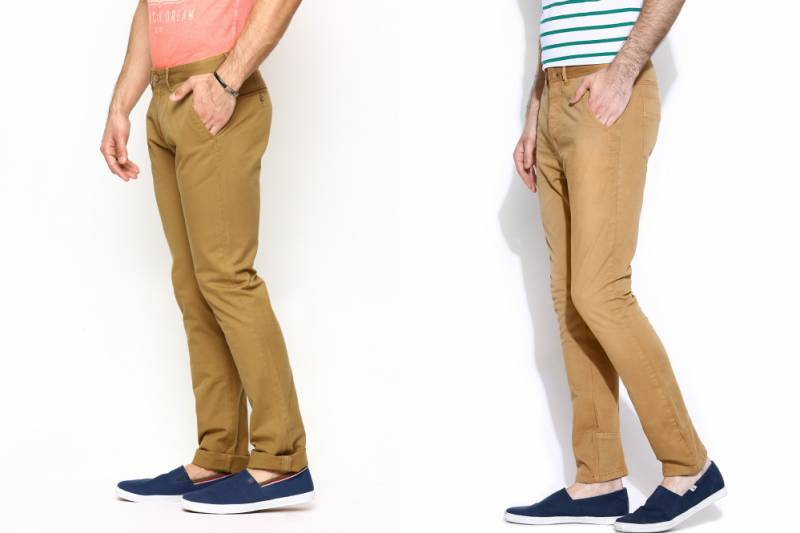 Горчичные брюки