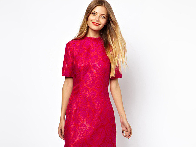 Купить жаккардовую ткань для платья