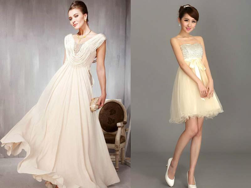 Модели платьев в бежевом цвете