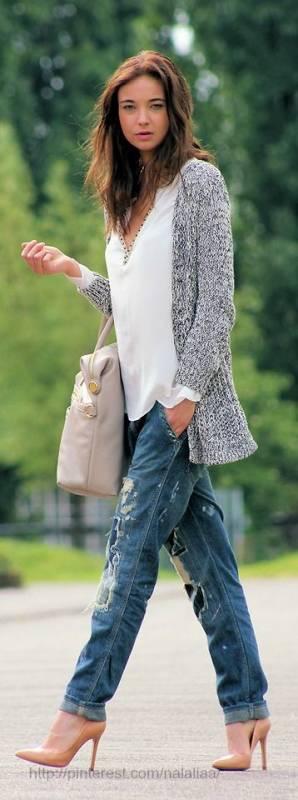 Блузка с джинсами