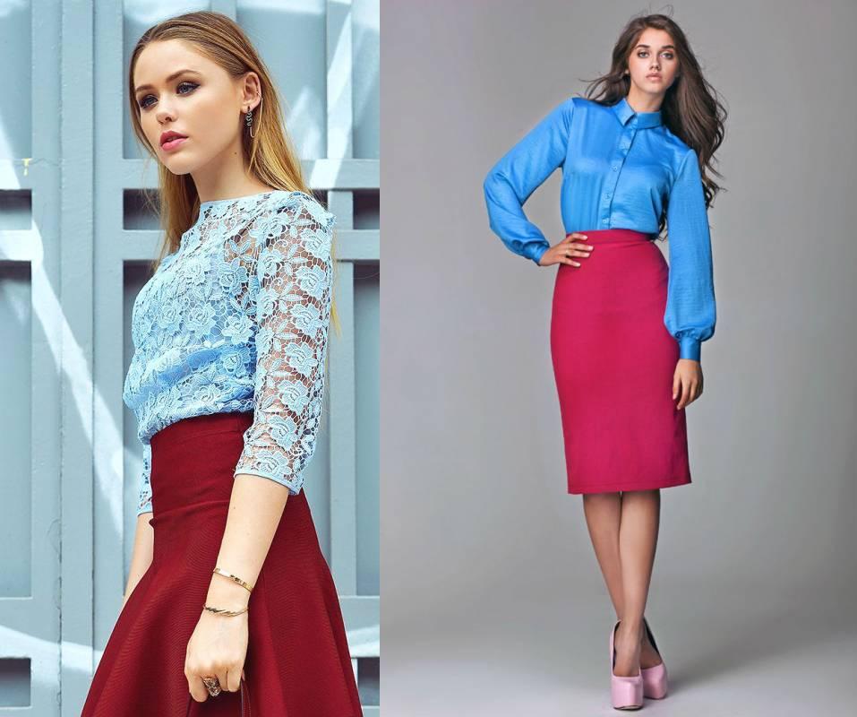 Красная Юбка Синяя Блузка В Омске