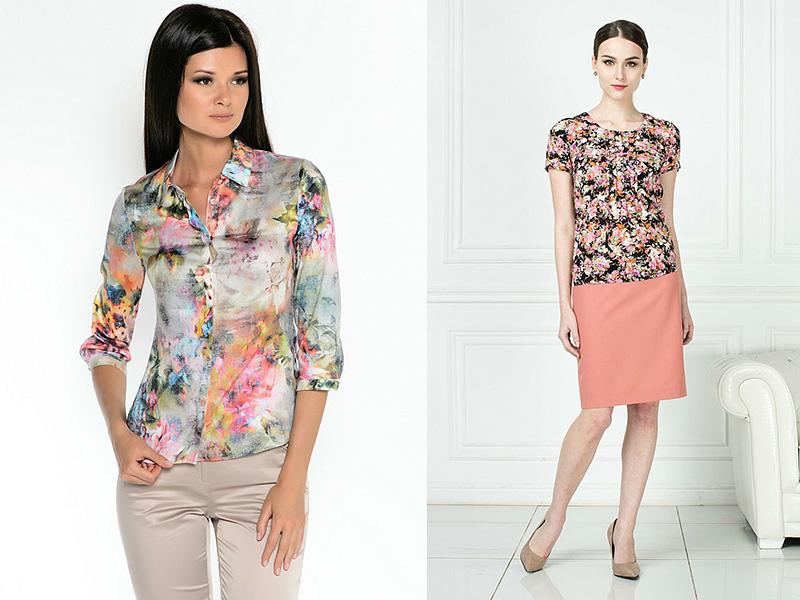 Модные блузки с цветочным принтом