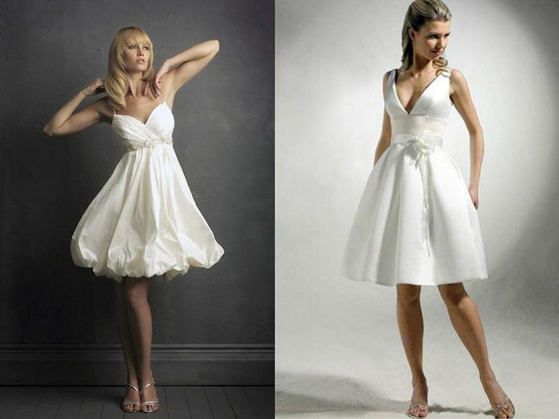 Платья из белого атласа