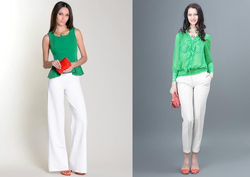 С Чем Носить Зеленую Блузку