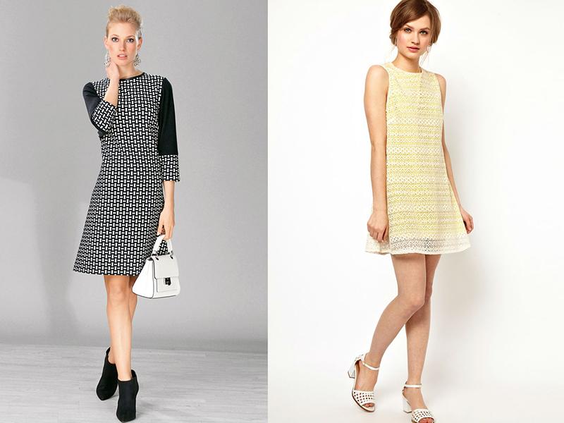 Модели платьев с коротким рукавом фото