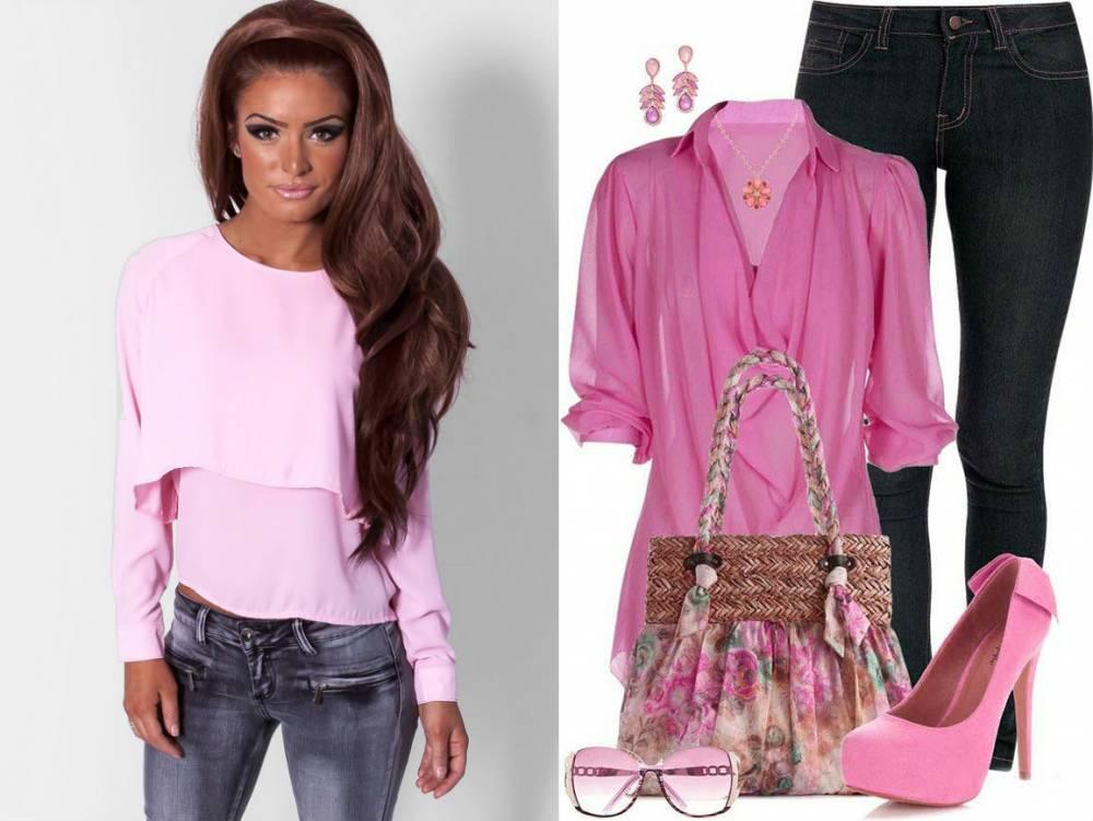 Розовая Блузка С Чем Носить