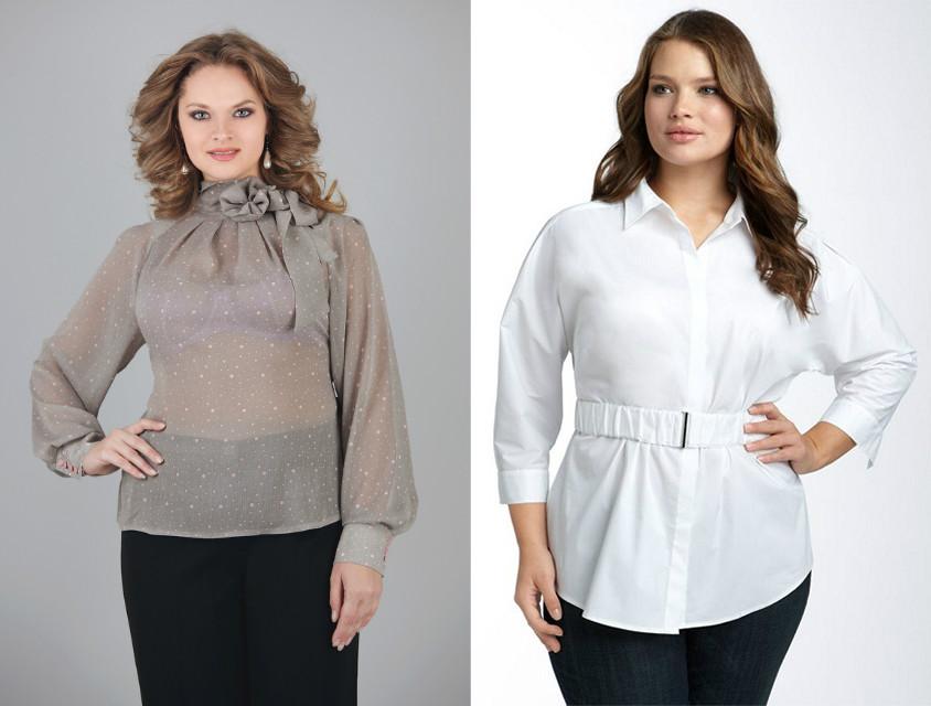 Купить блузку для полных с доставкой