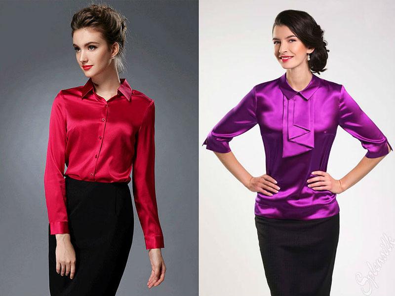 Женские блузки из шелка
