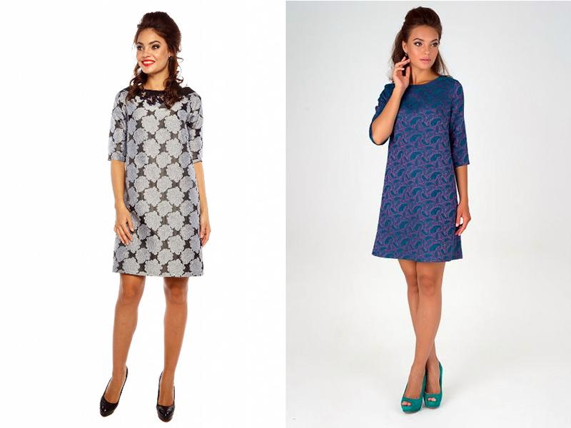 Модная платья из жаккарда