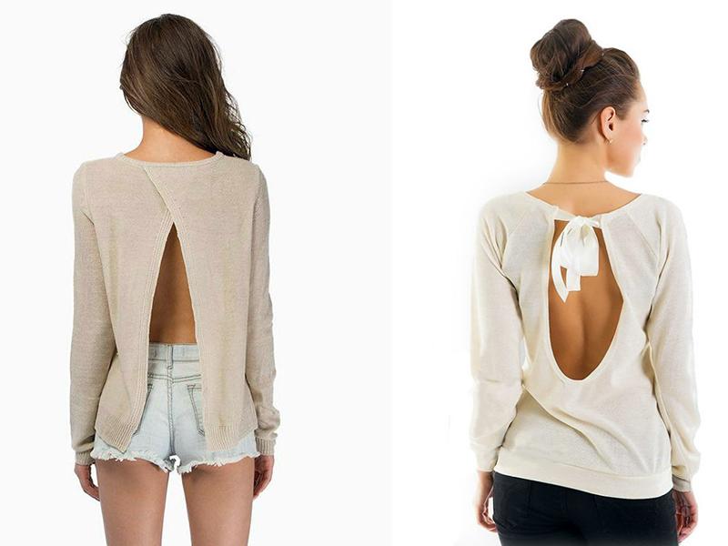 Блузки С Открытой Спиной