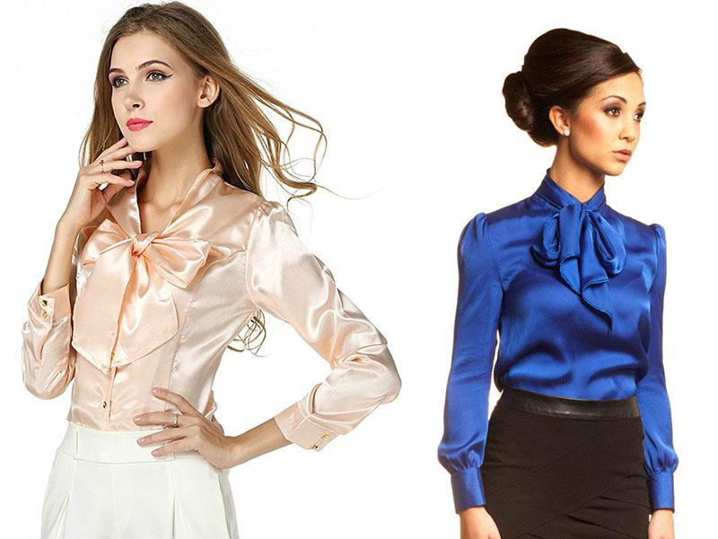 Модели блузок из атласа с доставкой