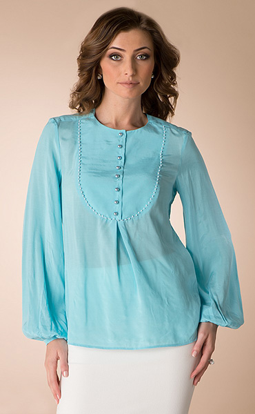 Блузки с кокеткой женские