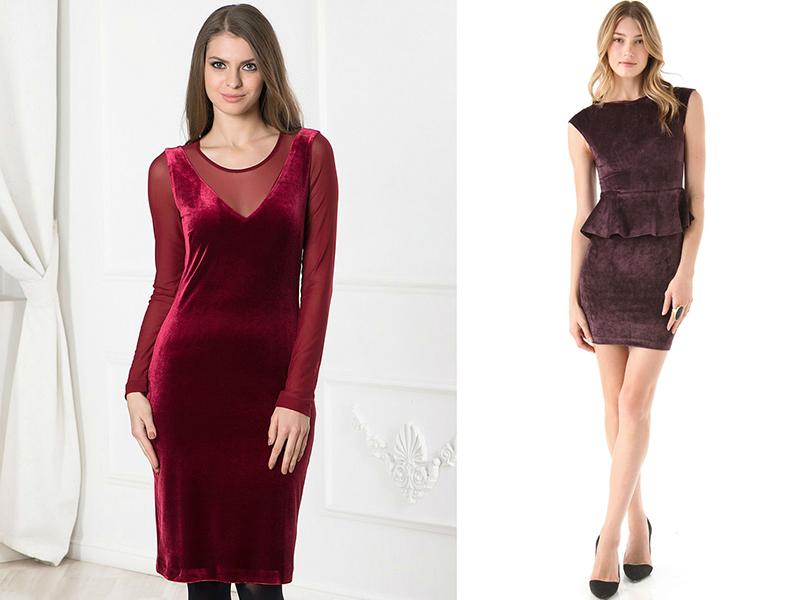 Велюровые платье короткие