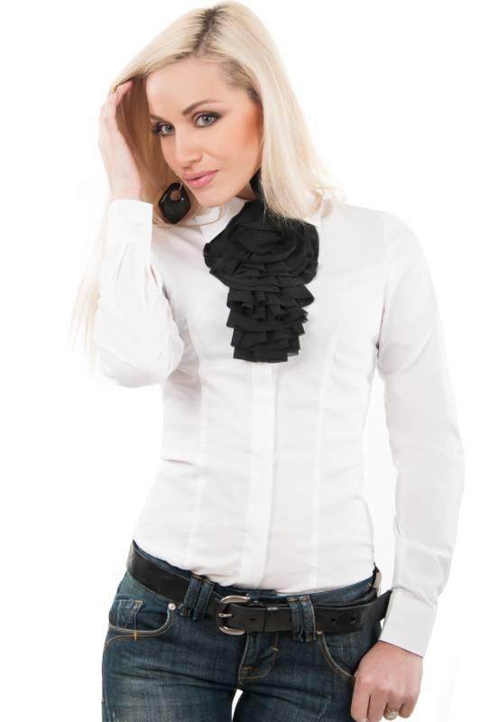 Белые Блузки С Жабо