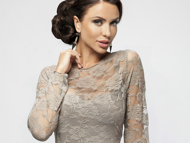 Ажурное платье блузка