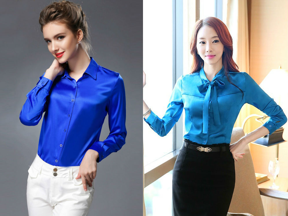 Блузки Синего Цвета