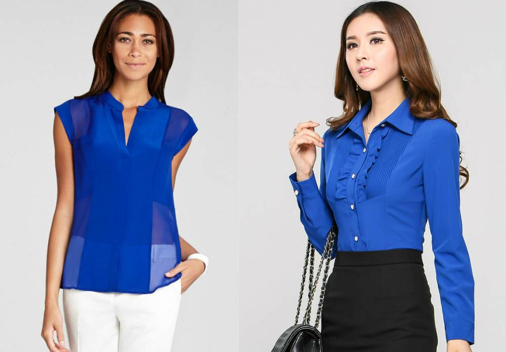 Синяя Блузка Купить