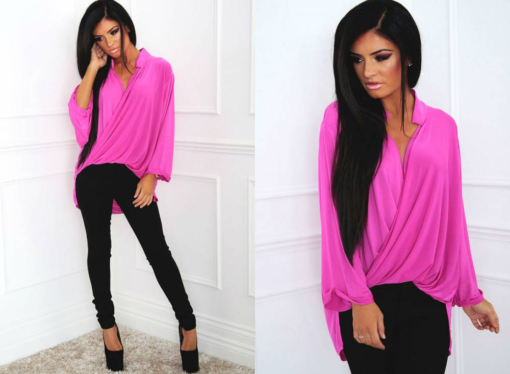 Розовая Блузка Фото