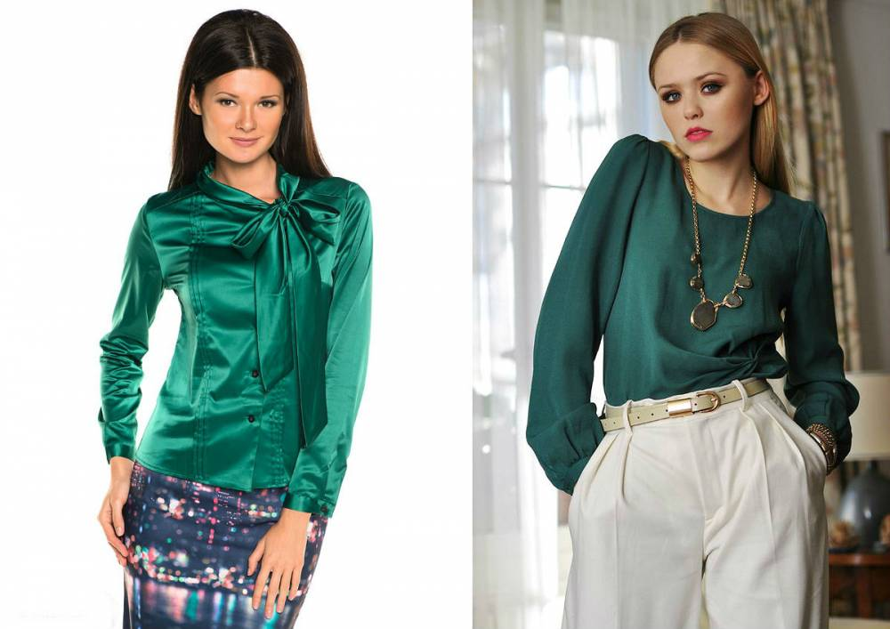 Блузки Зеленого Цвета
