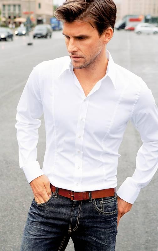 джинсы и рубашка мужская фото