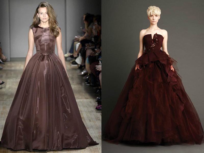 Фото темно коричневых платьев