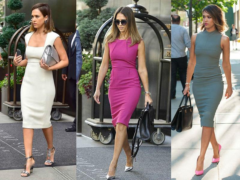 С какой обувью носить платье ниже колена