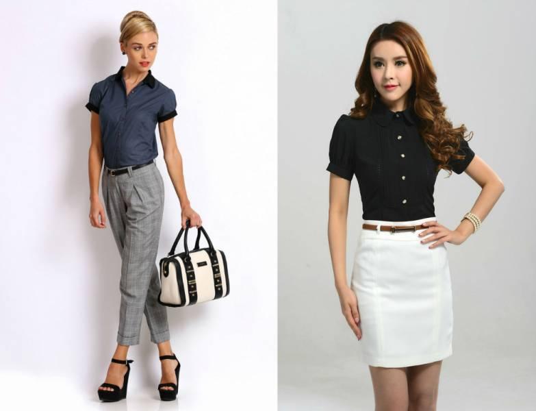 Модные офисные блузки