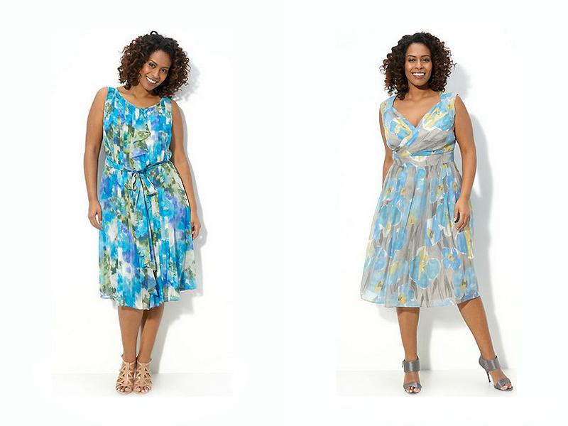 Летние платья для полных из ситца