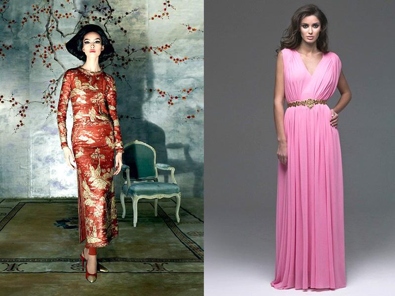 Современное платье в восточном стиле