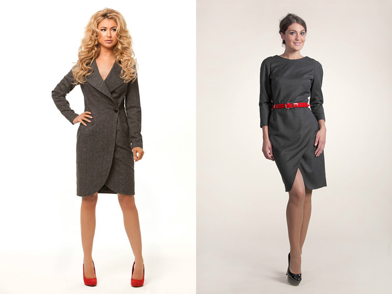 Модели платья с плотной ткани