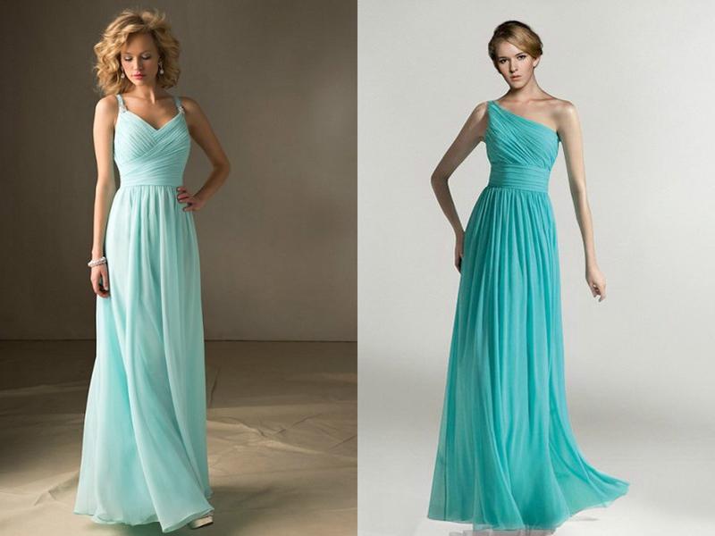 Платье цвет тиффани в пол