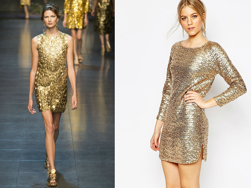 Платье На Новый Год Золотое Купить