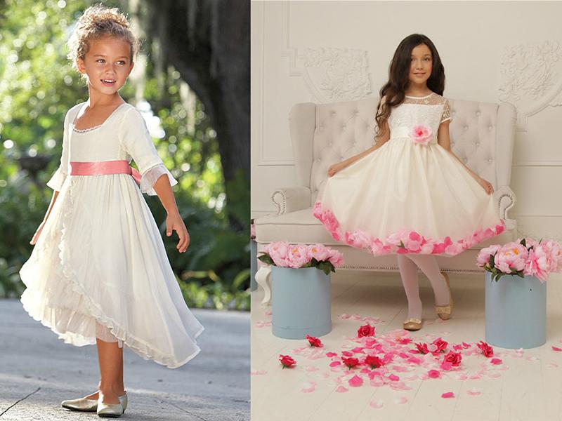 Платья для детей фото не пышные