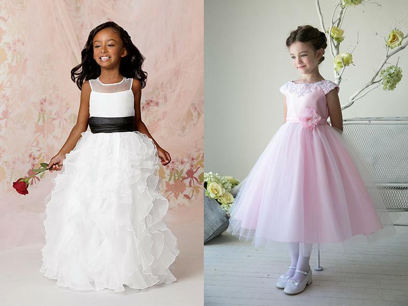 Платье с многослойной юбкой девочки