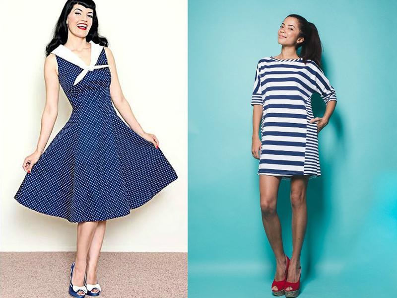 Платье летнее в морском стиле
