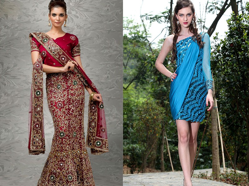 Модели платьев с пайетками