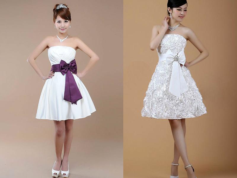 Как украсить бантом платье