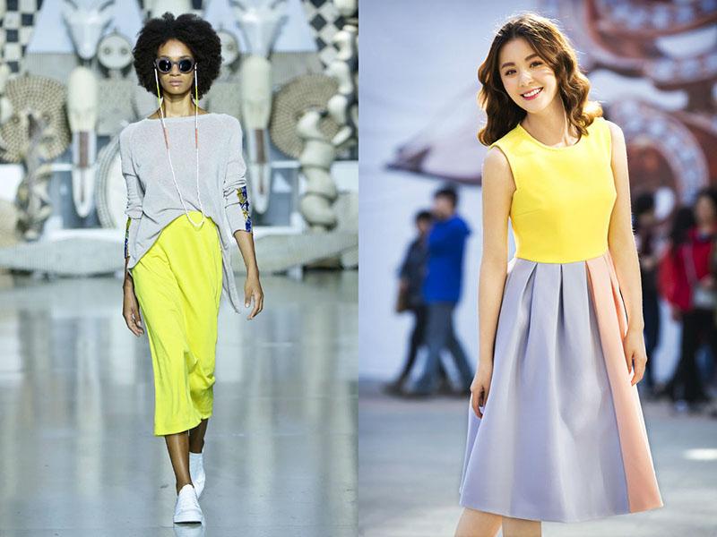 С каким цветом сочетается лимонный цвет в одежде фото