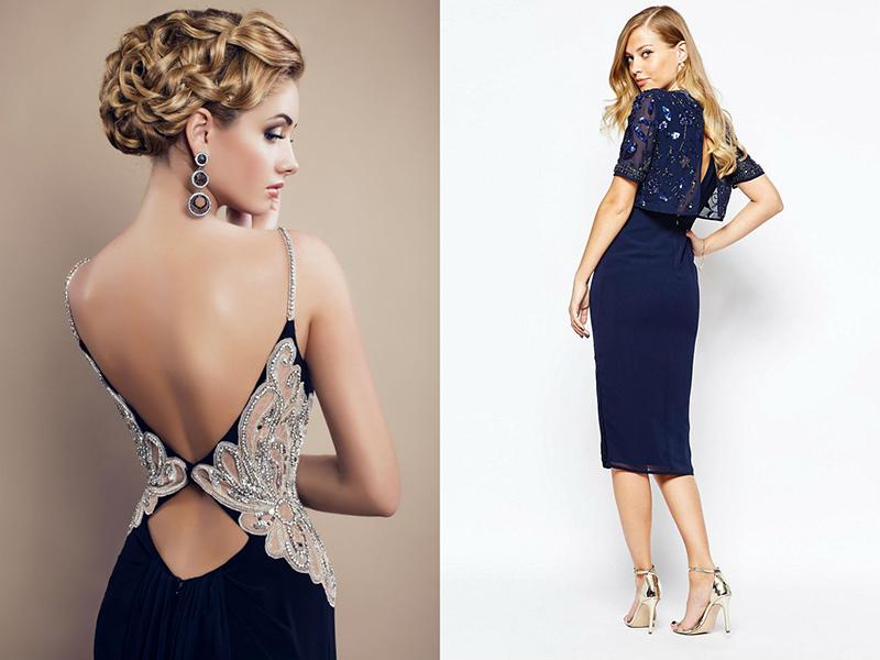 С чем носить платья с открытой спиной