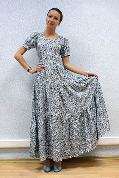 Платье барышня-крестьянка сшить 34