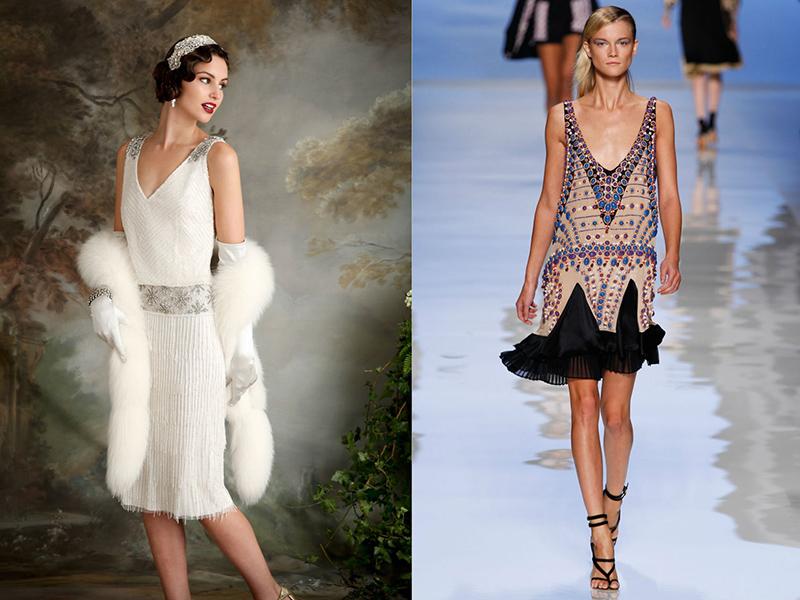 Платья в стиле гэтсби с бахромой