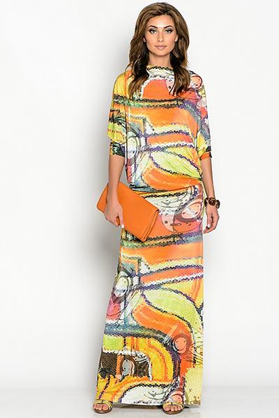 Сшить трикотажное платье с рукавами