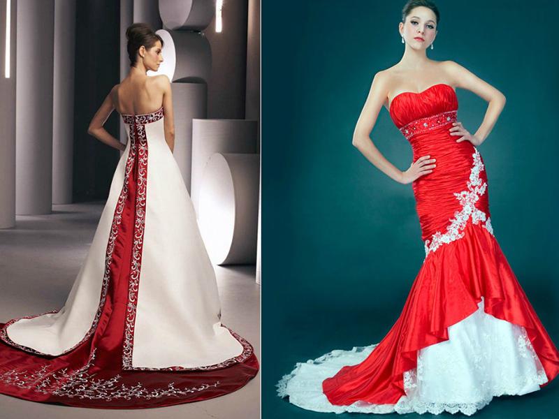 Как украсить красное платье стразами