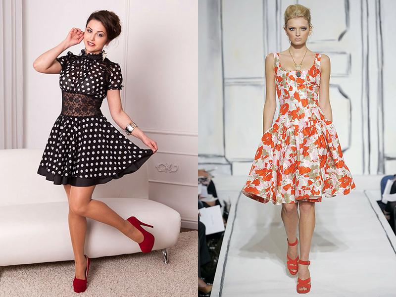 Купить Платье Клеш От Талии