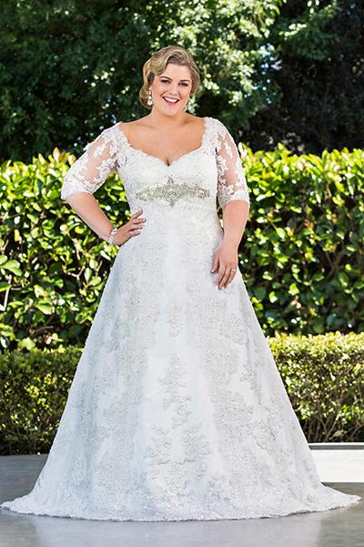 Свадебные платья для полных и цены